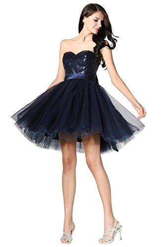 Engerla -  Vestito  - con orlo a palloncino - Basic - Senza maniche  - Donna blu - blu oltremare
