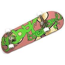 "'–Monopatín para dedos Shibby Champange # 1""Graffiti Día Deck + ejes de plata + Roly Poly Wheels Color Blanco de freefingers® Handmade Wood mini-tabla"