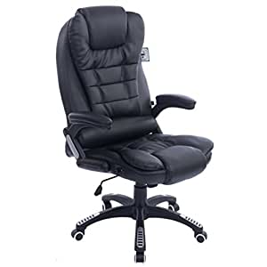 Executive Recline Extra Padded Office Chair Standard Black