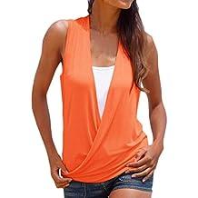 Adelina Camisetas Mujer Verano Elegantes Fashion Basicas Sin Mangas V Ropa Dama Moderno Cuello Casual Anchas