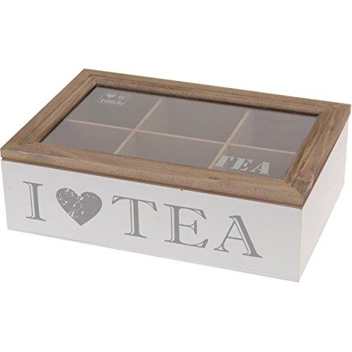 Boîte à thé 6compartiments Blanc 23x 15,5x 7cm Dammann Frères Boîte à thé Boîte à thé Boîte à thé