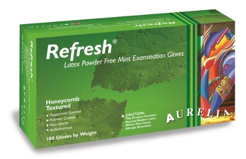 Aurelia Refresh Latex Glove, Powder Free, 9.4 Length, 5 mils Thick, X-Large (Pack of 100) by Aurelia
