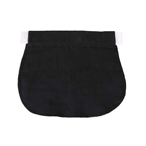 Cinnamou Accesorios de Mujeres Pantalones, Cinturón de Cintura para Ropa Embarazadas Elástico Cintura Extensor de Maternidad Jeans (Negro)