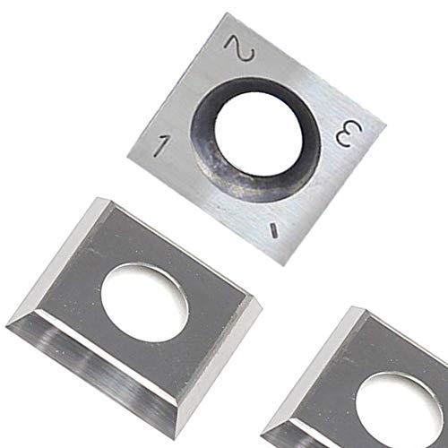 RTing 14mm Vierkant Hartmetalleinsätze Cutter für Holzbearbeitung & Drehen, (14mm Länge X14mm Breite X 2,0 dick), 10er Pack