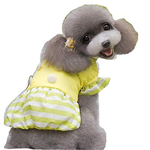 Hunde Kostüm Handgemachte Niedliche - Eyxia-Pet-Master Prinzessin Kleider for Hunde kleiner Rassen Kleidung gestreifte Haustiere Katzen Welpen Kleintiere Katzen Kostüm (Color : DZ87Yellow, Size : 2)
