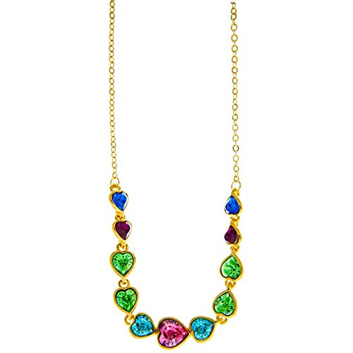 champagne-gold-plated-necklace-with-string-of-hearts-design-with-14-extendable-chain-and-high-qualit
