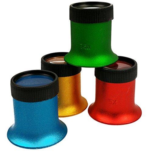 4 Aluminum Lupen für Uhrmacher mit Okularhalter ActiX Coloré