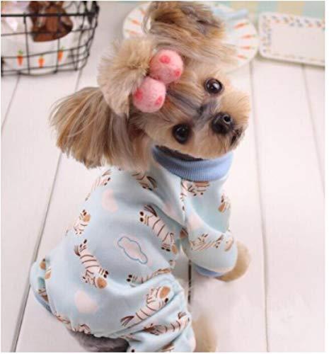 Home Kostüm Garde - SUNMIAOMIAOHundebekleidungSoft and Warm Dog Pyjamas süßer Hund Kostüm Yorkshire Chihuahua Hundebekleidung für Hunde Katzen-in Hundemäntel & Jacken von Home & Garden, Blau, M