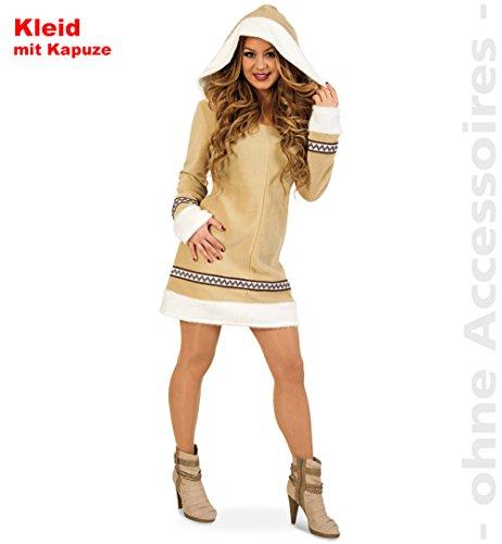 Inuit Kostüm Damen - Unbekannt Eskimofrau Kostüm Damen Eskimokostüm