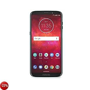 Motorola Moto Z3 Play Smartphone da 64 GB, Deep Indigo, Dual SIM, con Moto Power Pack e Caricabatteria TurboPower [Italia]