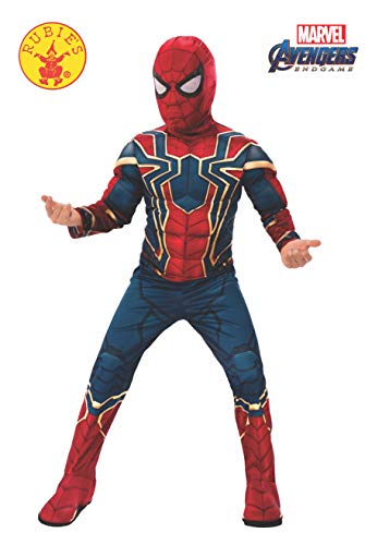 Rubie's Offizielles Avengers Iron Spider, Spiderman Deluxe Kinderkostüm, Größe M, Alter 5-7, Höhe 132 cm (Spiderman Kostüm Kind)