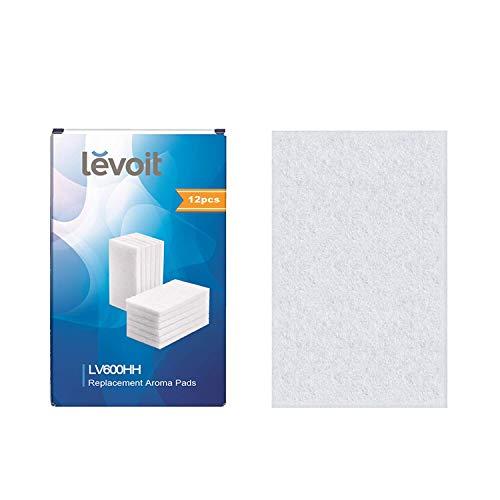 Levoit Aroma-Pads (12er-Pack) geeignet für LV600HH-Ultraschall-Luftbefeuchter für warme und kühle Nebel, auch für LV450CH, LV550HH-Luftbefeuchter (Ultraschall Kühlen Nebel-luftbefeuchter)