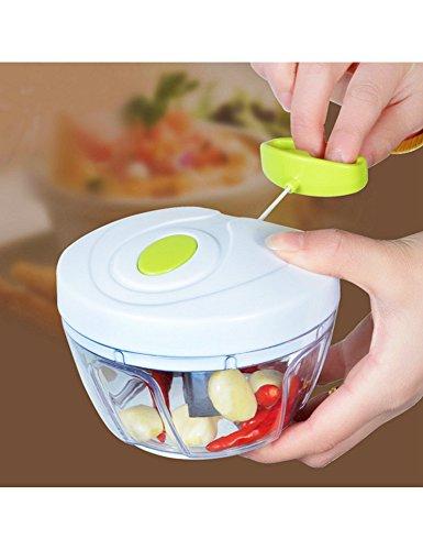 Manuell Hacken Schneiden - 5 in 1 Mini Chopper mit 3 Klingen für Gemüse und Obst schneiden, Multi-Function Food Cut Mince Tool und Mince Machine