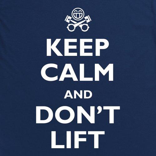 Keep Calm and Don't Lift T-Shirt, Herren Dunkelblau