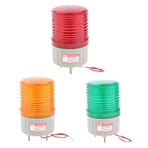Sharplace 3pcs Lámpara de Seguridad Luz Intermitente Señal Herramienta de Jardin Casera