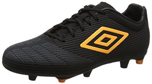 Umbro Ux Accuro Premier Hg, Chaussures de Football Homme Noir (Eqf Black/Orange Pop/Carbon)