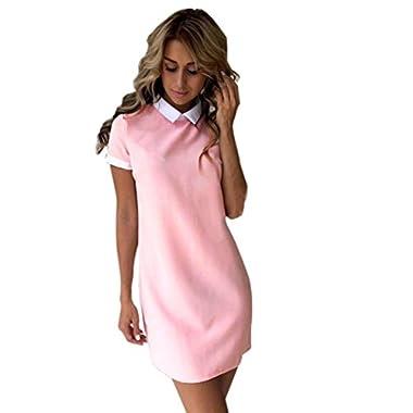 Women's Dress, Xinantime Summer Casual Short Sleeve Dress Short Mini Dress