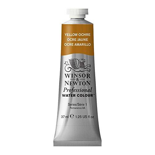 Winsor & Newton 114744 Professional Watercolours (feinste Künslter Aquarellfarbe - 37ml Tube höchstmöglicher Pigmentierung, ausgezeichneter Lichtechtheit) Gelber Ocker