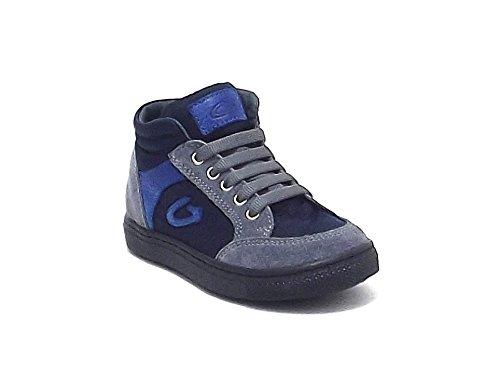 Alberto Guardiani Kids scarpa bambino, articolo 20800, sneakers Guardiani in camoscio e nylon, colore grigio blu