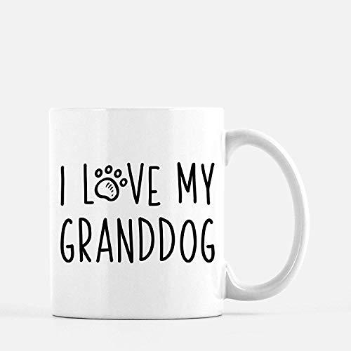 TK.DILIGARM I Love My Granddog Mug | Dog Grandma Gift | Dog Grandpa Gift | Dog Grandparents | Cute Funny Dog Mug | Dog Lover Gift
