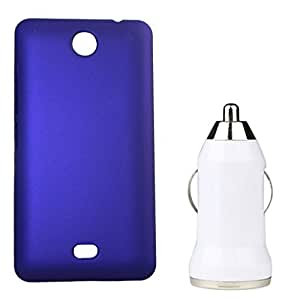XUWAP Hard Case Cover With Car Charger For Microsoft Lumia 430 - Purple