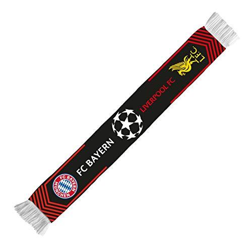 Geschenkideen FC Bayern München CL Achtelfinale Schal Liverpool 2019 (one Size, schwarz)