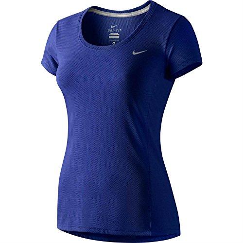 NIKE t-shirt à manches courtes pour femme dri-fit contour Deep Royal Blue
