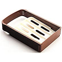 dersoning guía de corte plegable herramientas de cuisson au Pan rejilla rebanadora Panificadora compacta (marrón