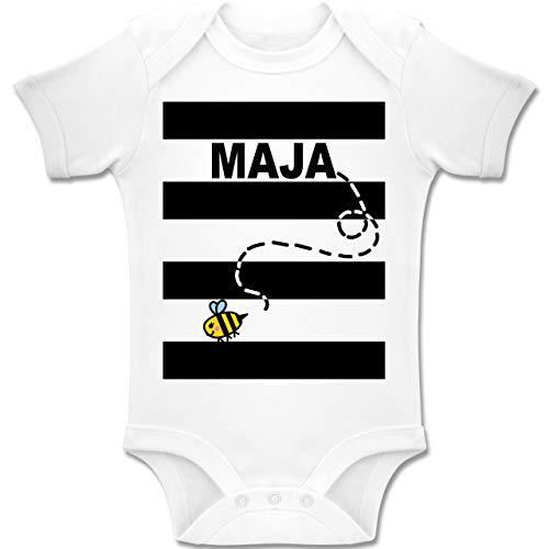 Shirtracer Karneval und Fasching Baby - Bienen Kostüm Maja - 12-18 Monate - Weiß - BZ10 - Baby Body Kurzarm Jungen Mädchen (Honig Bienen Kostüme Für Babys)