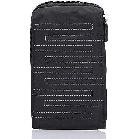 Multi-Funcional Nylon deporte Pocuh, Gendax Escalada Faltriquera Senderismo Bolsa Camping Bolso Paquetes de la cintura para el teléfono móvil hasta 5,5