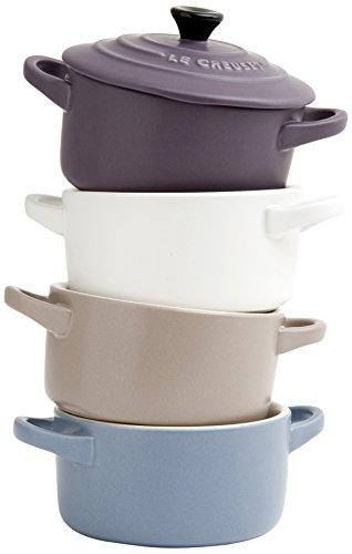 Le Creuset 91006900469000 - Set de 4 mini cocottes de cerámica de gres,...