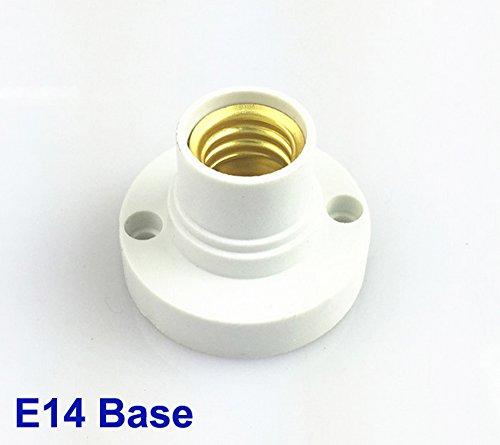 Preisvergleich Produktbild 2 X Neu E14 Lampenfassung Glühbirne Sockel LED Kunststoff Deckenfassung Fassung