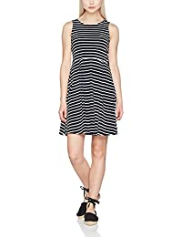 Vero Moda Vmoslo Stripe S/L Short Dress D2-3, Robe Femme
