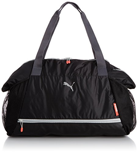 Puma Damen Tasche Fit at Workout, Black/Periscope/Cayenne, 42 x 41 x 17 cm, 40 Liter, 073406 01