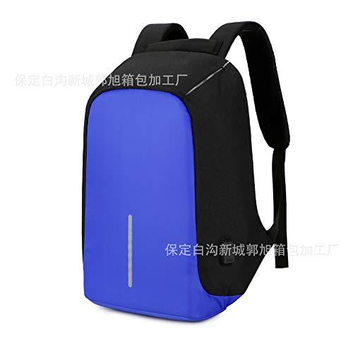 Zaino antifurto da uomo e da donna borsa da viaggio zaino antifurto per computer blu scuro con nero da 15,6 pollici