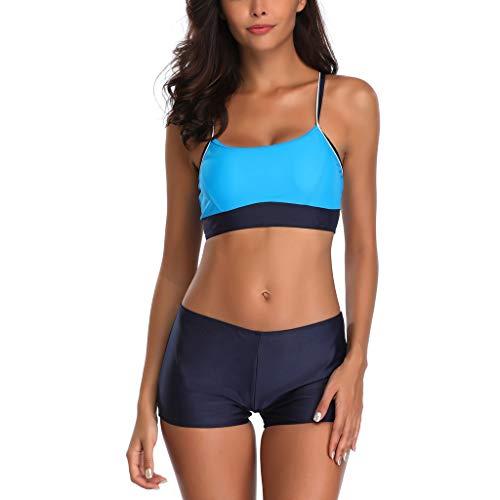 AIni Frauen 2 Piece Bikini Set Push-Up Stripe Swimwear Strandbekleidung Viele Farben und Größen...