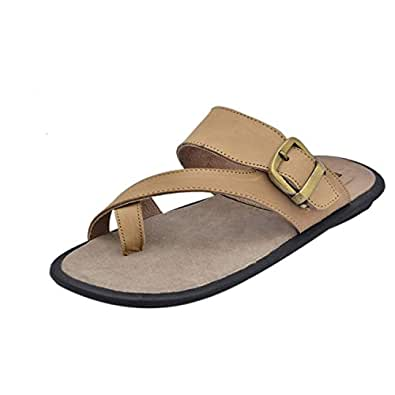 Athlego Men's Corporate Office Casual Slippers Sandals in Beige Color