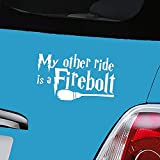 Aerial Balls Harry Potter Firebolt White-Vinyl Decal Window Sticker-nur ein P & P charge Pro 'AERIALBALLS'Bestellung Geld sparen durch den Kauf von zwei oder mehr unsere viele designs.
