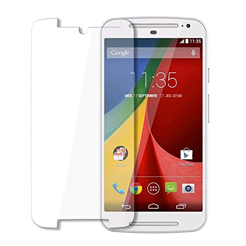 Plus 0.3mm Pro+ Tempered Glass Screen Protector With Packaging Kit For Motorola Moto G (2nd gen)