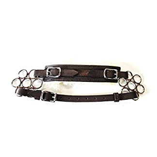 PS Horse Products Set Bitless Bridle Flower Silver Real Sheepskin 2