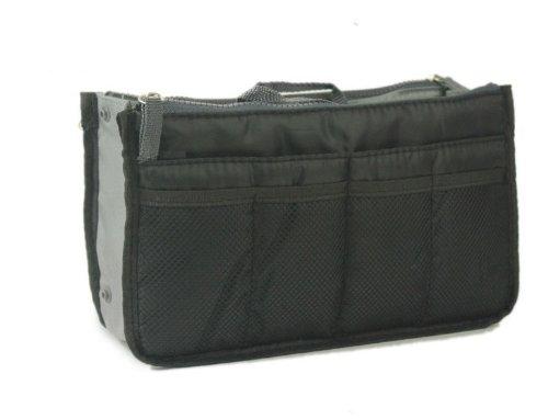 NOV@GO® (version originale qualité assurée) Organiser/Pochette/sac de rangement intérieur NOIR pour grand sac à main ou sac de voyage (existe aussi en Orange/rouge/vert/bleu/Vert....)