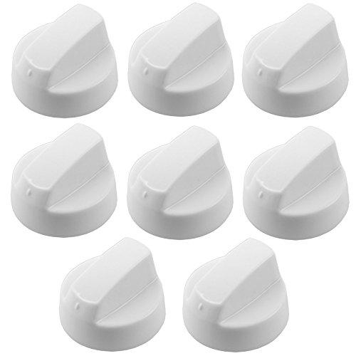 Drehknopf für Hygena SPARES2GO weiß, Diplomat/Schreiber &Herd, Ofen, Herd, 1,2,4,6 oder 8 Adaptern) Pack Quantity: 8