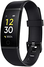 Realme Band (Black) - Full Colour Screen with Touchkey, Real-time Heart Rate Monitor, in-Built USB Charging, I