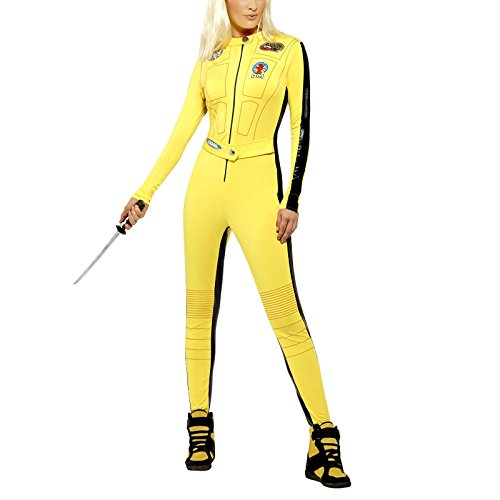 Kill Bill Jumpsuit Damenkostüm Lizenzware gelb-schwarz (Kostüm Bill Kill Kinder)