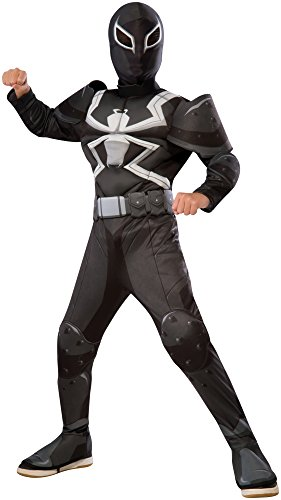 Rubie's Costume Spider-Man Ultimate Deluxe Child Agent Venom Deluxe Costume, Small by Rubie's Costume ()