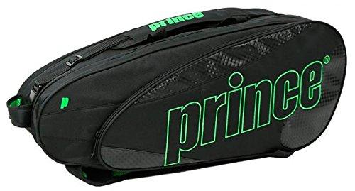 Prince Textreme 9 Pack Schlägertaschen, Schwarz, 750 x 40 x 33 cm, 70 Liter (Prince Squash-schuhe)