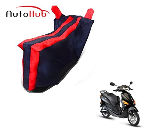 Auto Hub Bike Body Cover For Hero Electric Optima - Black Red  available at amazon for Rs.275