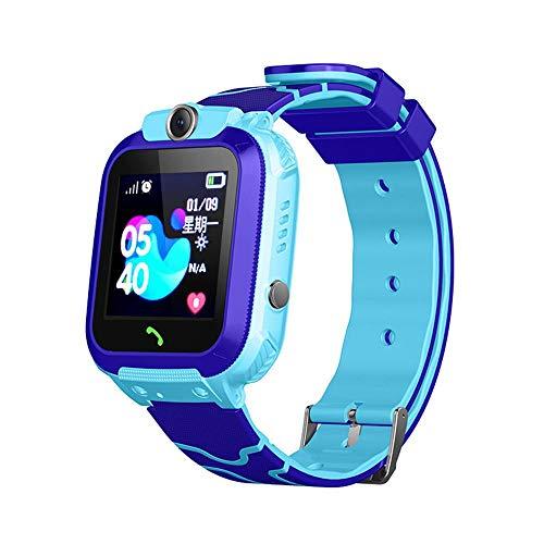 Reloj inteligente para niños, reloj inteligente impermeable con GPS, SOS, llamada bidireccional,...