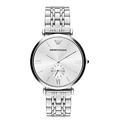 Emporio Armani Mens Analogue Quartz Watch with Stainless Steel Strap AR1819