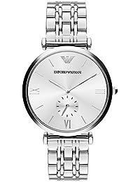 75344fafae0e Emporio Armani Herren Analog Quarz Uhr mit Edelstahl Armband AR1819